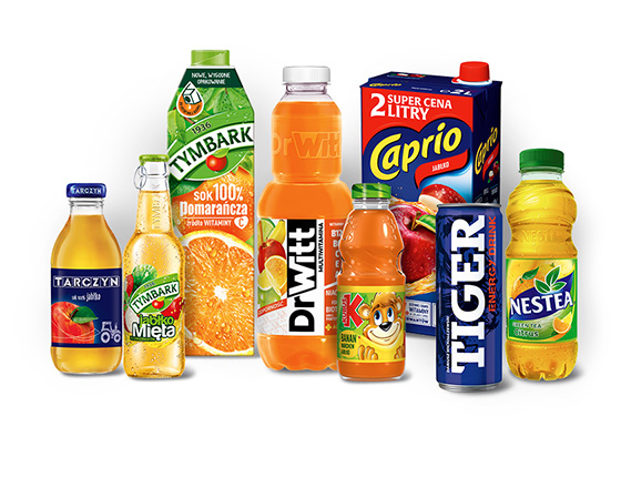 Soki, nektary, napoje oraz woda